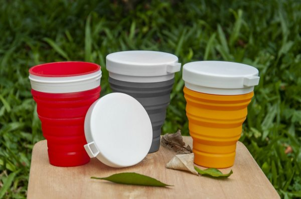 Copo Retrátil Silicone Ecoh - Dobrável, Reutilizável