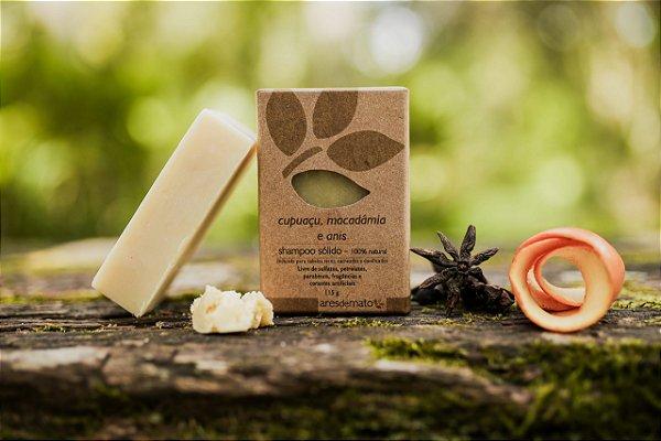Shampoo sólido Cabelos Cacheados ou Secos - Cupuaçu e Macadâmia