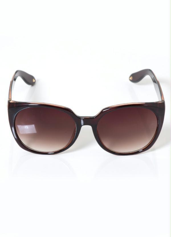 Óculos de Sol Quadrado Tartaruga Marrom