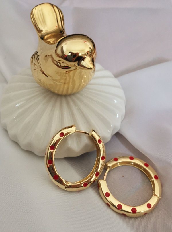 Argola Poá Dourado