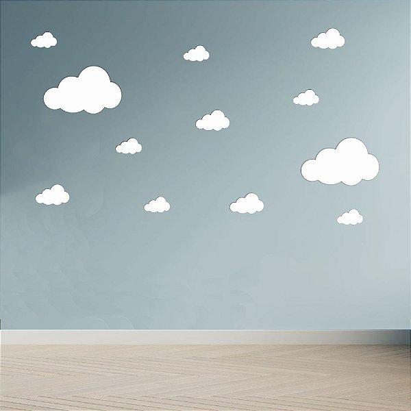 Adesivo Decoração Infantil Nuvens Brancas Quartos Crianças