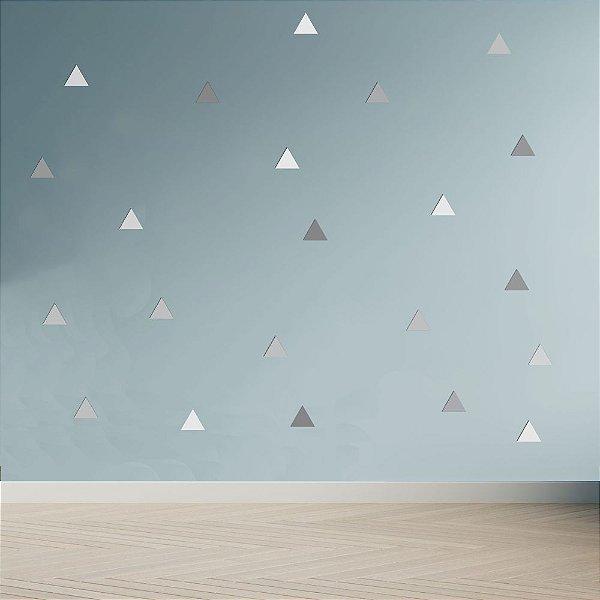Adesivo Decoração Infantil Triângulos Tons De Cinza