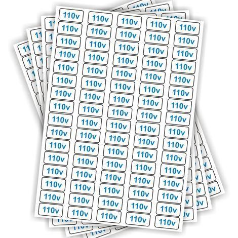 Etiquetas Adesivo De Voltagem para Tomadas - 110v