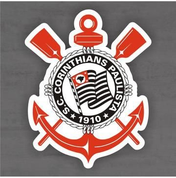 Quadro Decorativo de Times Futebol - Corinthians - Mdf 3mm