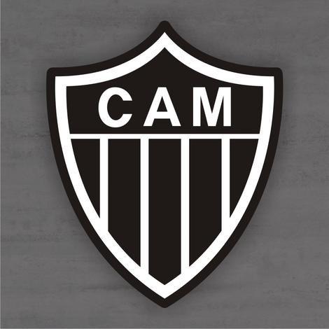 Quadro Decorativo de Times Futebol - Atlético Mineiro CAM - Mdf 3mm