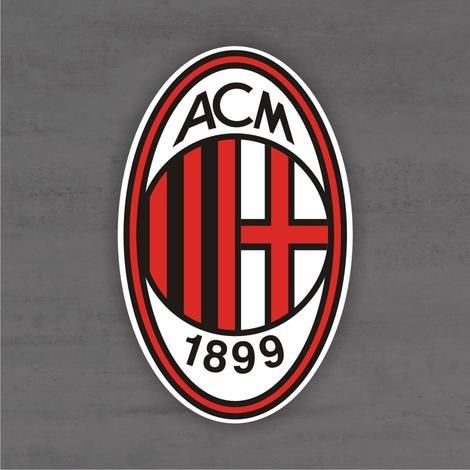 Quadro Decorativo de Times Futebol - Milan - Mdf 3mm