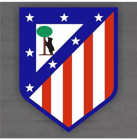 Quadro Decorativo de Times Futebol - Atlético de Madrid - Mdf 3mm