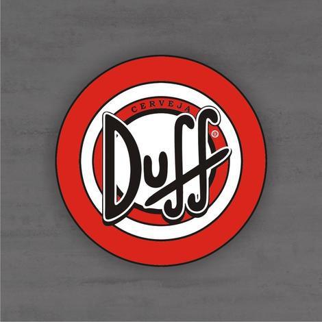 Placa Decorativa - Duff - Medida 33x33cm