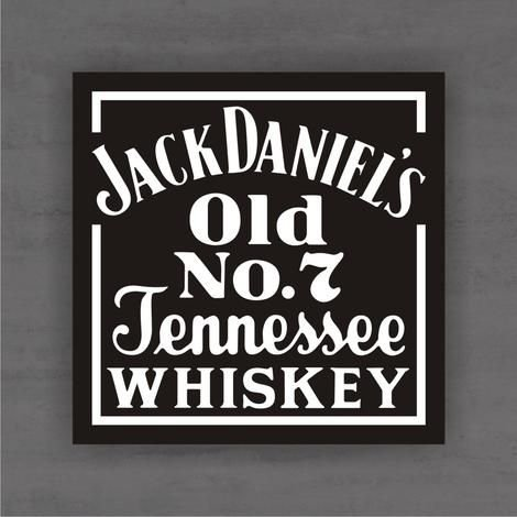Quadro Decorativo de Bar - Jack Daniels - Mdf 3mm