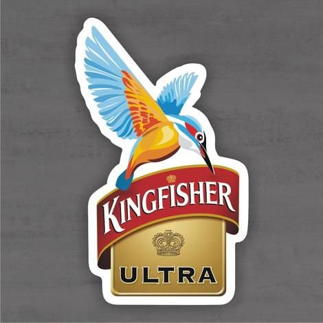 Quadro Decorativo de Bar - Kingfisher - Mdf 3mm