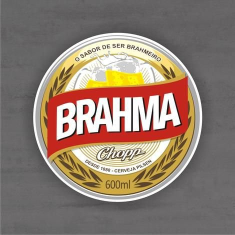 Quadro Decorativo de Bar - Brahma - Mdf 3mm