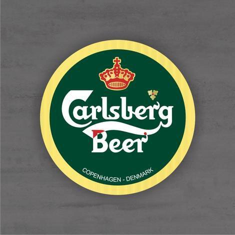 Placa Decorativa - Carlsberg Beer - Medida 33x33cm