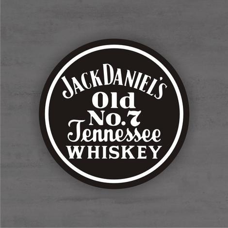 Placa Decorativa - Jack Daniels Jennessee - Medida 33x33cm
