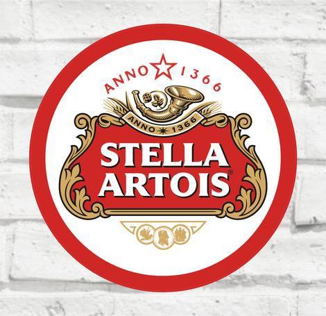 Placa Decorativa - Stella Artois - Medida 33x33cm