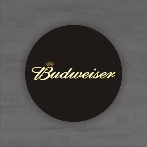 Placa Decorativa - Budweiser - Medida 33x33cm