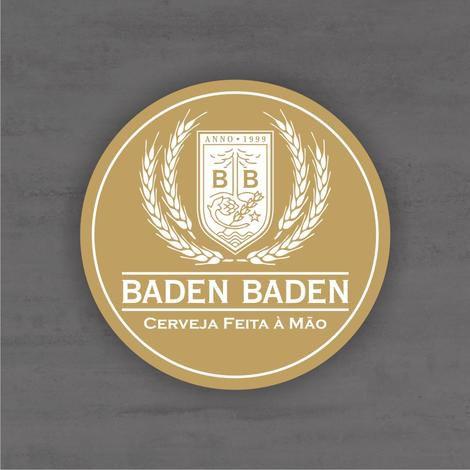 Placa Decorativa - Baden Baden - Medida 33x33cm