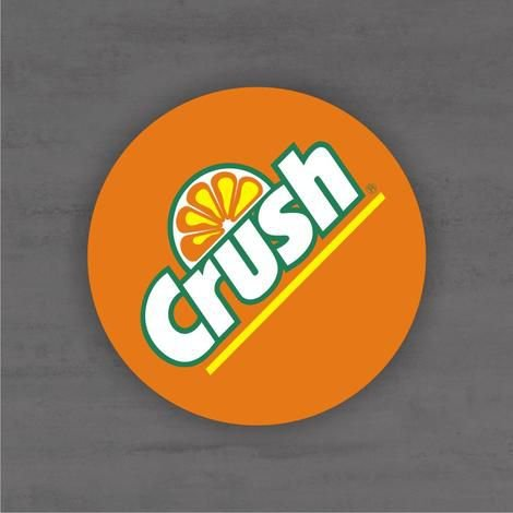 Placa Decorativa - Crush - Medida 33x33cm