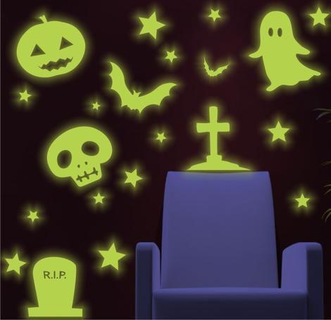 Adesivo Brilha No Escuro - Halloween B - Dia Das Bruxas