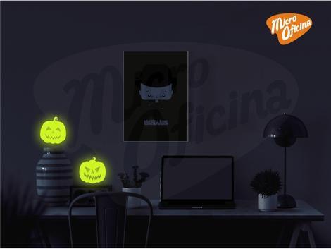 Adesivo Brilha No Escuro - 2 Abóboras Halloween Novo