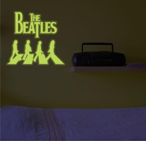 Adesivo Decorativo Brilha No Escuro - Beatles
