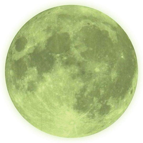 Adesivo De Parede Decorativo Lua Brilha No Escuro