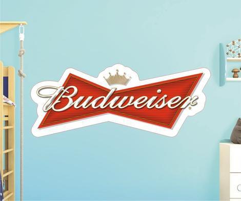 Adesivo De Cerveja - Budweiser - Grande