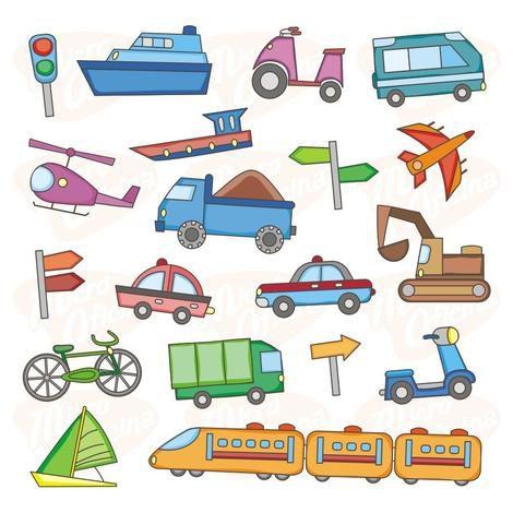 Adesivo De Parede Decorativo Infantil - Quarto - Carrinho e Barco