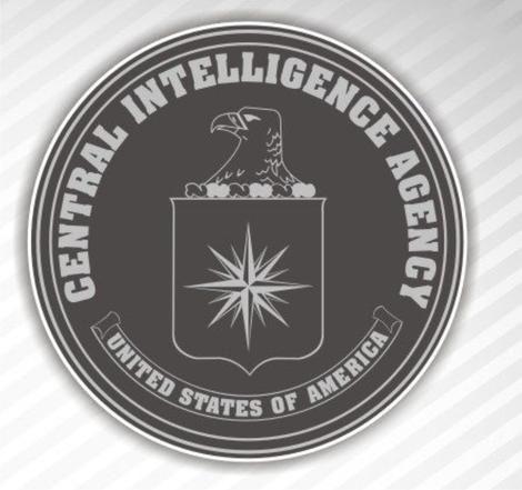 Adesivo De Parede Decorativo - CIA - Central Intelligence Agency - Medida 60 cm x 60 cm