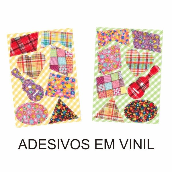 Adesivo Retalho Remendo Em Vinil! Festa Junina