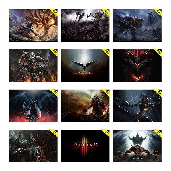 Quadros Placas Decorativas 30x20cm Diablo 3 Blizzard Reaper Of Souls