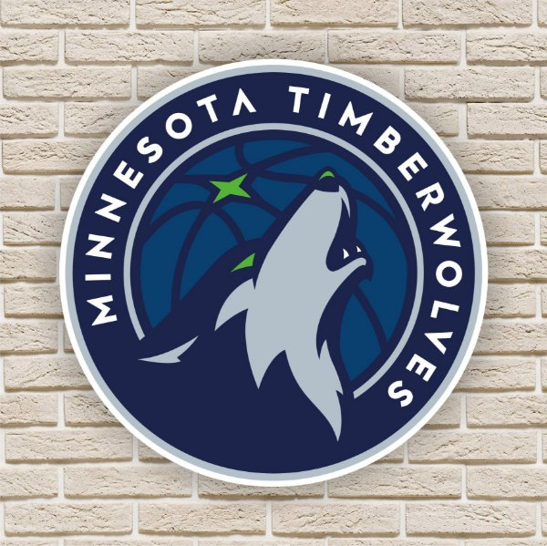 Quadro Decorativo Minnesota Timberwolves Nba Basquete