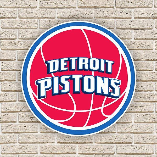Quadro Decorativo Detroit Pistons Nba Basquete