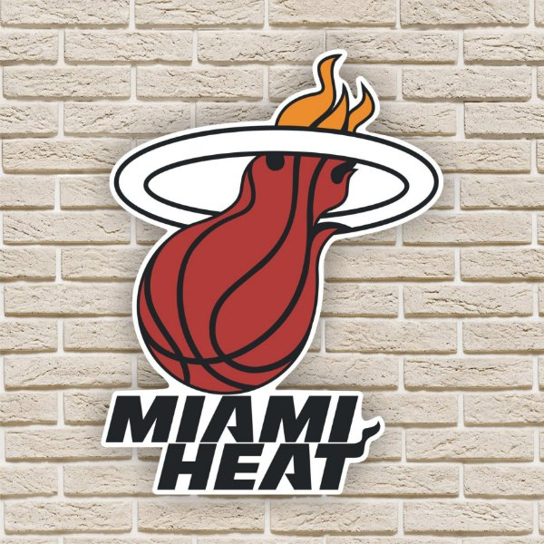 Quadro Decorativo Miami Heat Nba Basquete