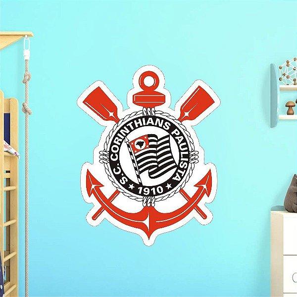 Adesivo De Time - Corinthians - Grande - Medida: 64cm x 80cm