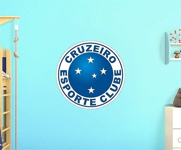 Adesivo De Time - Cruzeiro - Grande - Medida: 64cm x 64cm