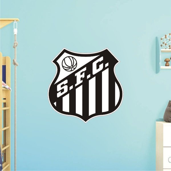 Adesivo De Time - Santos - Grande - Medida: 64cm x 64cm