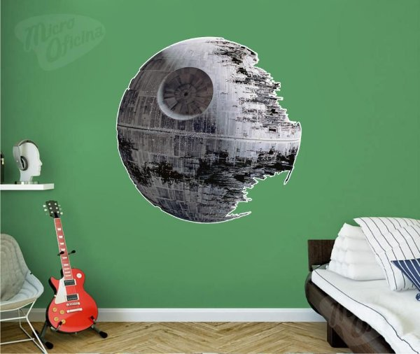 Adesivo De Parede Decorativo - Death Star - Estrela Da Morte - Star Wars