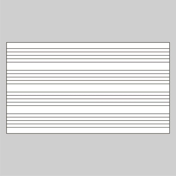 Adesivo Quadro Branco Pautado Pauta Musical 120 X 64 Cm