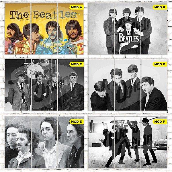 Quadro Triplo Beatles Escolha o Seu Modelo!!