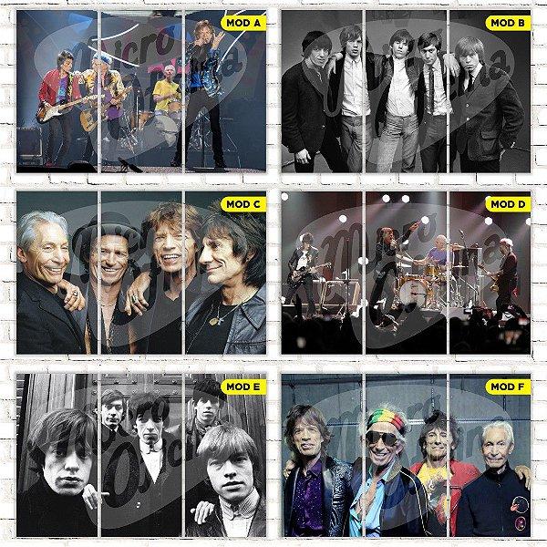 Quadro Triplo Rolling Stones Escolha o Seu Modelo!!