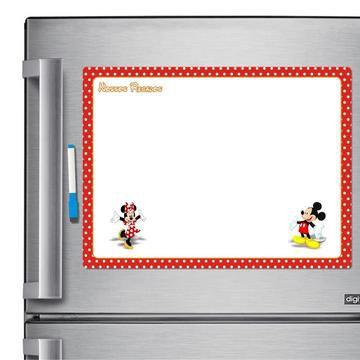 Ímã De Geladeira - Porta Recados - Anotações - Mickey E Minnie