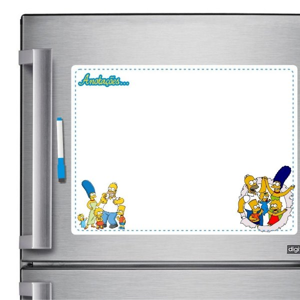 Ímã De Geladeira - Anotações Simpsons - Quadro Branco