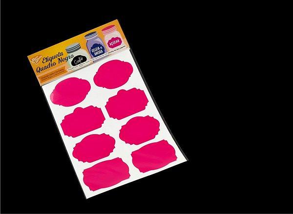 Etiqueta Vinil Rosa Pink Adesiva para Caneta Giz Líquido