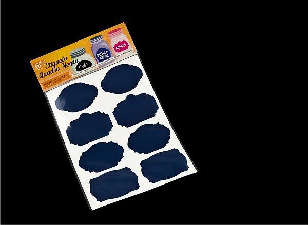 Etiqueta Vinil Azul Escuro Adesiva para Caneta Giz Líquido