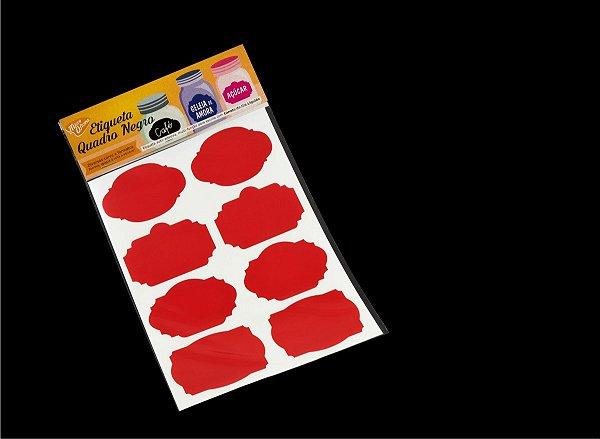 Etiqueta Vinil Vermelha Adesiva para Caneta Giz Líquido