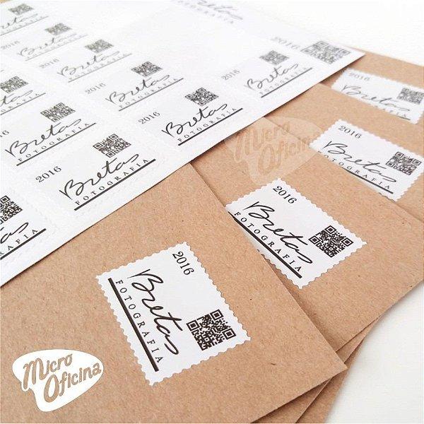 Selos Personalizados Cartela Com 25 Unidades - Lançamento!!!