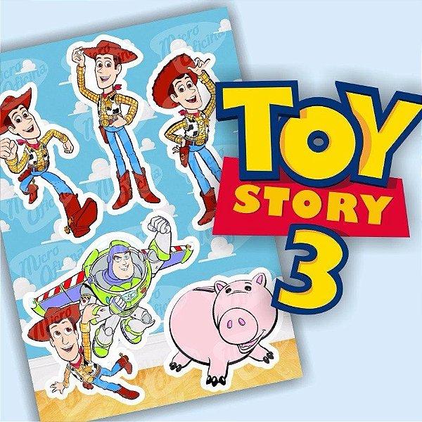Kit com 5 Cartelas De Adesivos - Toy Story