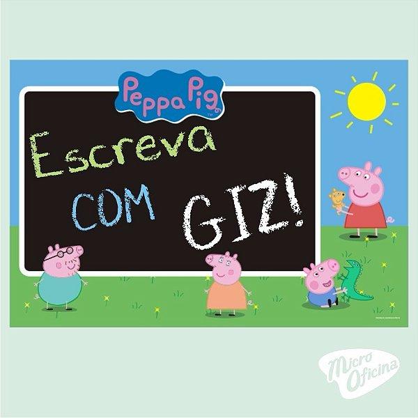 Quadro Negro - Lousa - Peppa Pig