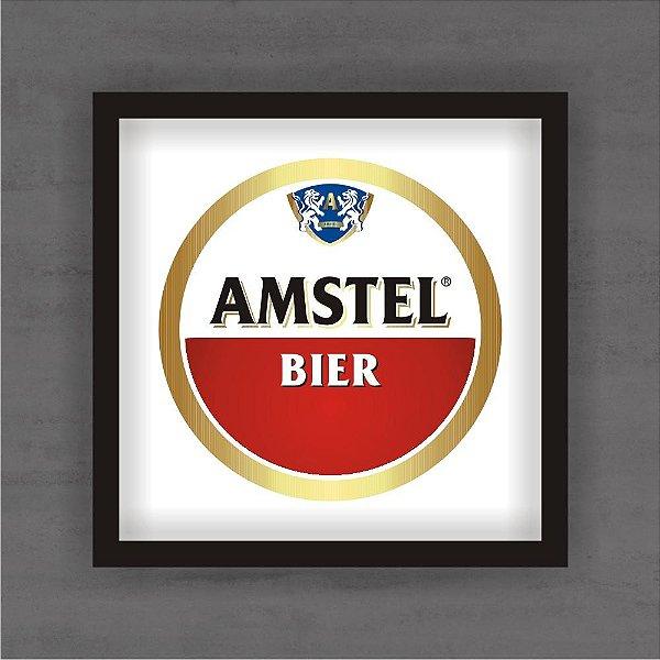 Quadro Decorativo Amstel Bier Com Moldura