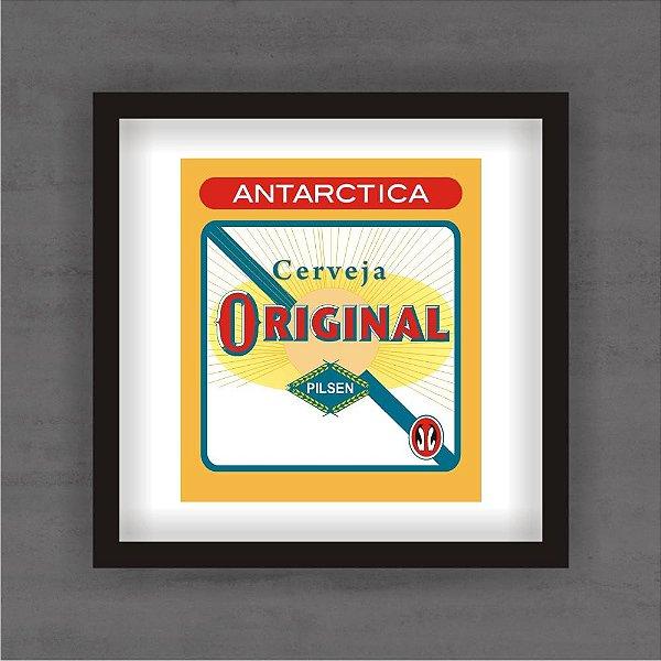Quadro Decorativo Antárctica Original Com Moldura